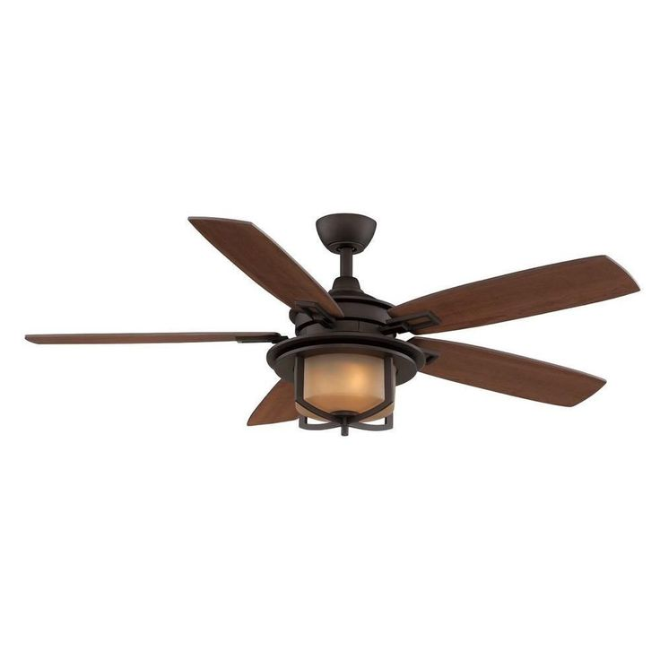 19 best ceiling fans with lights mission arts and crafts hampton bay devereaux ii 52 in indoor oil rubbed bronze ceiling fan with light kit and remote the home depot aloadofball Image collections
