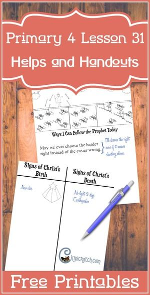 Great lesson helps and free handouts for Primary 4 Lesson 31: Samuel the Lamanite