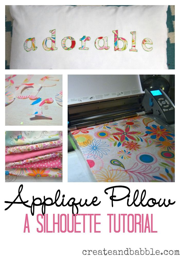 See how quick and easy it is to make a customized applique pillow using your Silhouette to cut out the shapes.