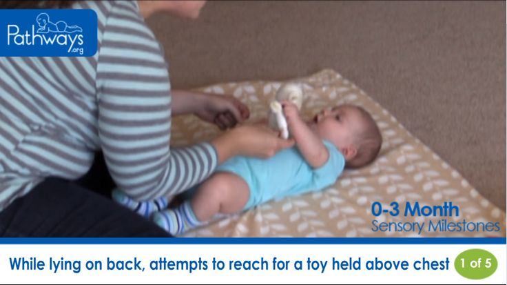 See video of what Sensory Milestones for Baby from Birth to 3 months old should look like