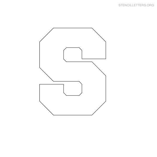 Free Printable Block Letter Stencils | Stencil Letters S Printable ...
