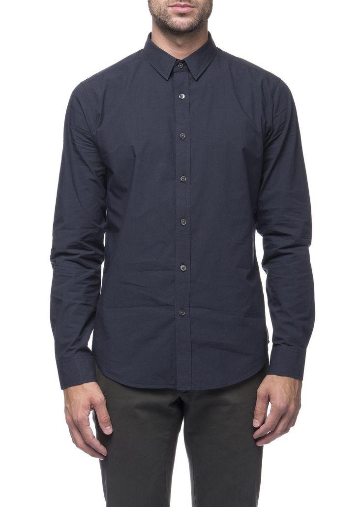 Theory - Menswear - FW16 // Navy Zack shirt in cotton