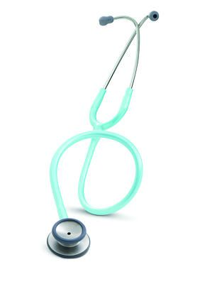 """Ocean Blue Classic II S.E. Stethoscope with """"Shelby Duggan"""" engraved on the chest piece."""