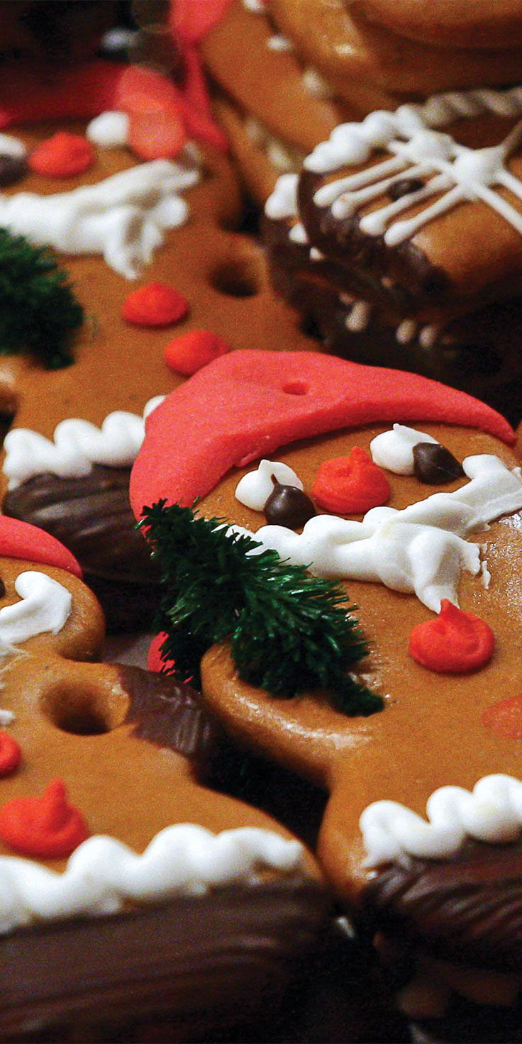 Santa sweets found at the Christmas Markets in Salzburg, Austria.