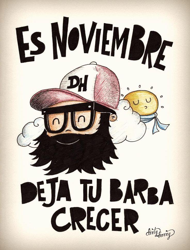 Es noviembre, deja tu barba crecer - www.dirtyharry.es