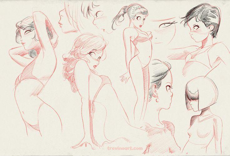 Sketches by raultrevino.deviantart.com on @deviantART