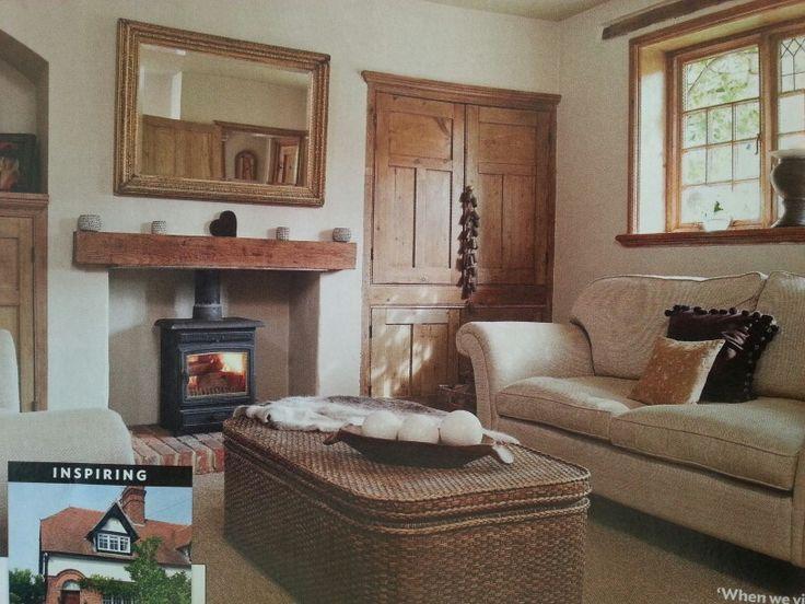 living room and log burner