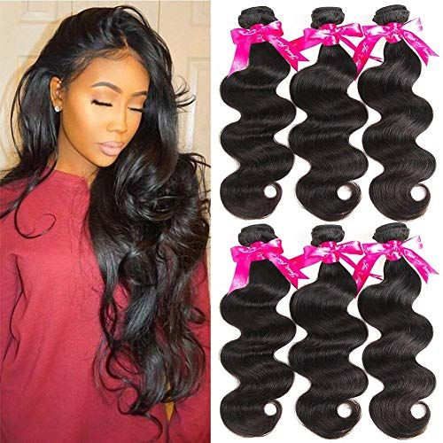 Enjoy exclusive for Beauty Princess Body Wave Human Hair 3 Bundles Double Weft 8A Brazilian Hair Bundles (20/22/24inch) online