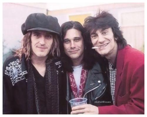 i♥GunsNRoses, Izzy Stradlin, Gilby Clarke & Ronnie Wood.
