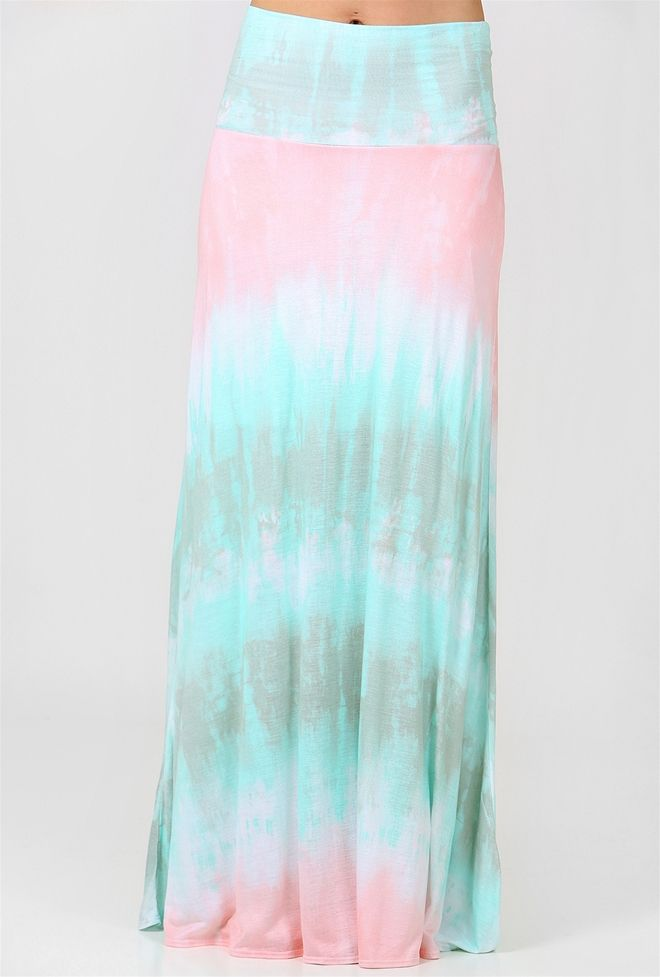 light and airy our tie dye maxi skirt is