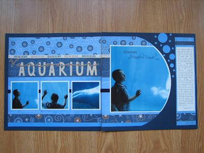 Aquarium: Scrapbook Ideas, April 2008, Aquarium Scrapbook Layout, Cool Ideas, Scrapbook Pages, Sea World, Aquarium Layout, Vacations Scrapbook, Wizards Hangout