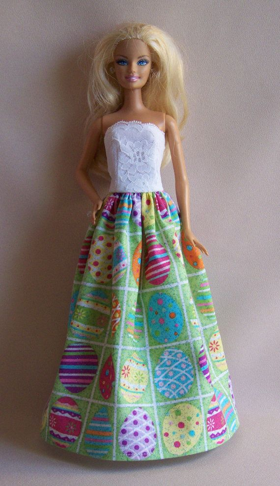 Handmade Barbie Clothes Easter Egg by PersnicketyGrandma on Etsy, $7.00