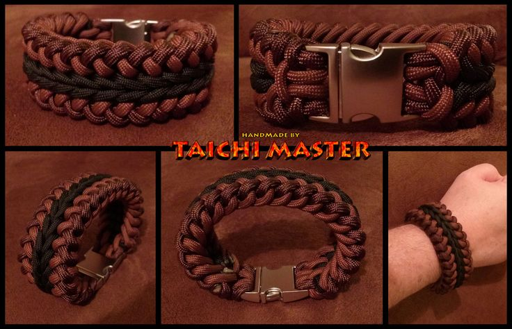 wide paracord bracelet instructions