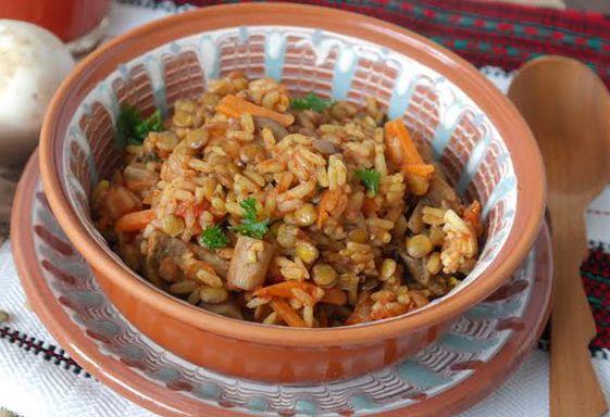 Низкоуглеводные рецепты: чечевица с рисом и грибами