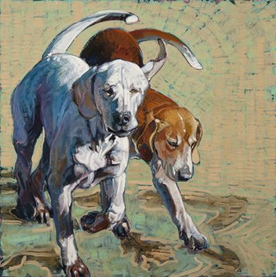 Doggies Galore | Dog Paintings by Leslie Shiels, Sally Muir and Dana Hawk