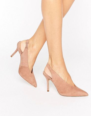 Minett point slingback heeled shoes by ALDO. Shoes by ALDO, Suede upper, Sling back strap, Pointed toe, High heel, Treat with a leather protector, 100% Real Leath...