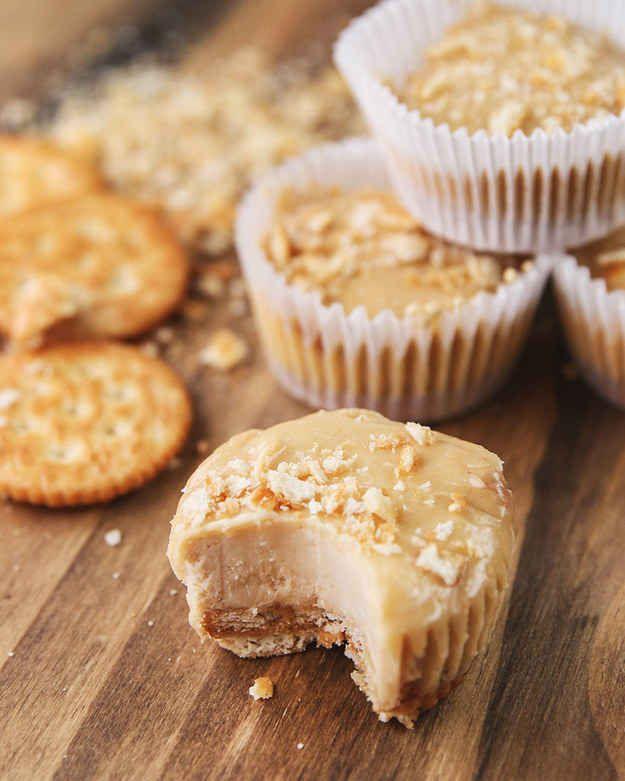 Mini-Erdnussbutter-Käsekuchen