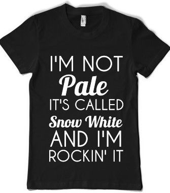 I'M NOT PALE-SNOW - glamfoxx.com - Skreened T-shirts, Organic Shirts, Hoodies, Kids Tees, Baby One-Pieces and Tote Bags