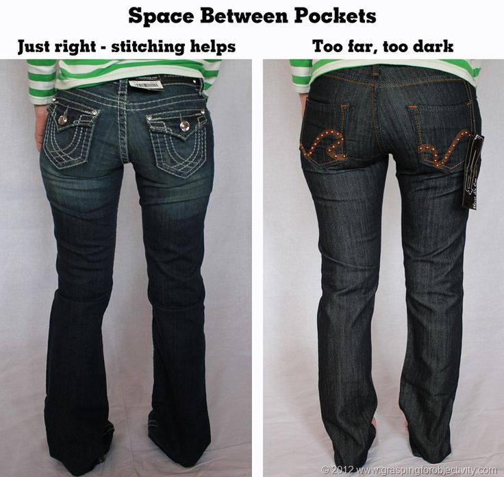 On the Proper Fitting of Jeans - How to avoid Mom jeans, get great pocket placement, etc.