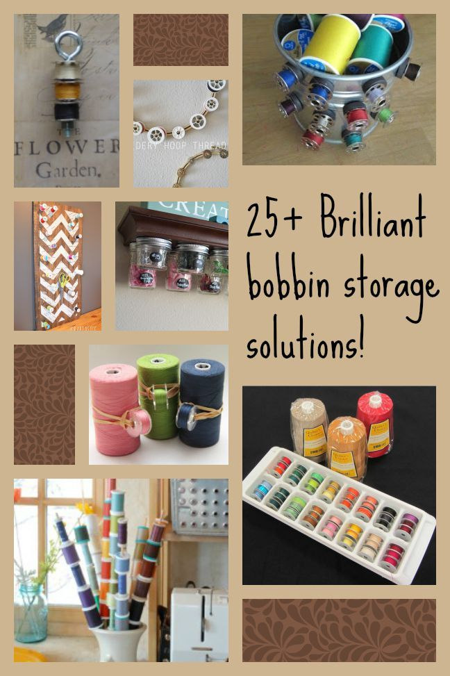 More than 25 bobbin storage ideas. Lots of inspiration for DIY plus links for some of the most ingenious bobbin storage solutions you can buy too.