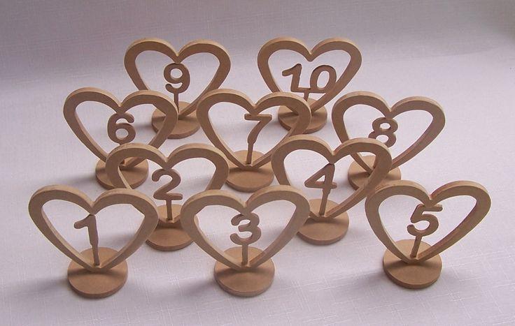 Set of 10 wedding table numbers