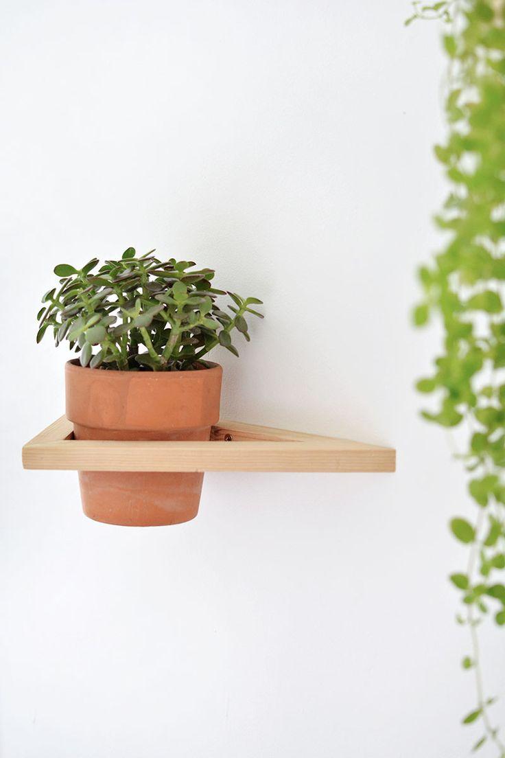 DIY   geo wall planter @burkatron
