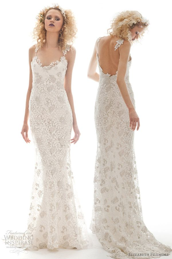 elizabeth fillmore flora wedding dress spring 2013 {although the model could stand to eat a burger, dress is fab}