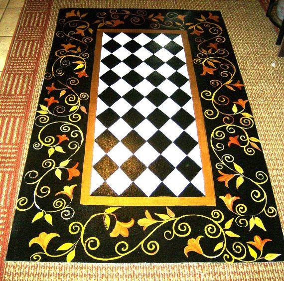 Painted Kitchen Floor Cloth: 199 Best Floor Cloths Images On Pinterest