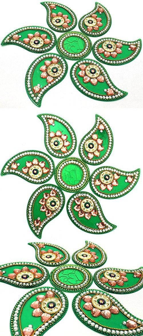 AMBA HANDICRAFT Rangoli / home decor/ Diwali / gift for home / interior handcrafted / floor stickers / wall stickers / wall decoration / floor decoration / new year gift / party. RANGOLI 166