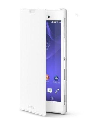 Oryginalne etui z funkcją podstawki Sony SCR16 Style Cover with Stand - białe - Sony Xperia T3