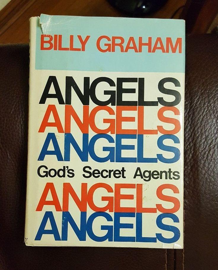 ANGELS GOD'S SECRET AGENTS By Billy Graham (1975 Hardback, 1st Edition)