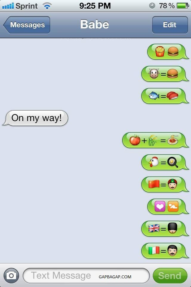 hilarious emoji conversations by two lovers