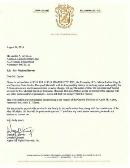 Alpha Phi Alpha Fraternity Pays Full Cost Of Michael Brown's Funeral | New Pittsburgh Courier