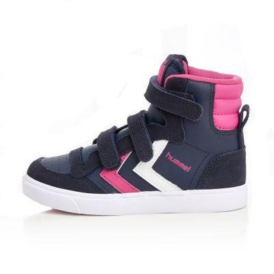 "Hummel Schuhe ""Stadil Jr Leather High, Blue Nights"" in blau pink"