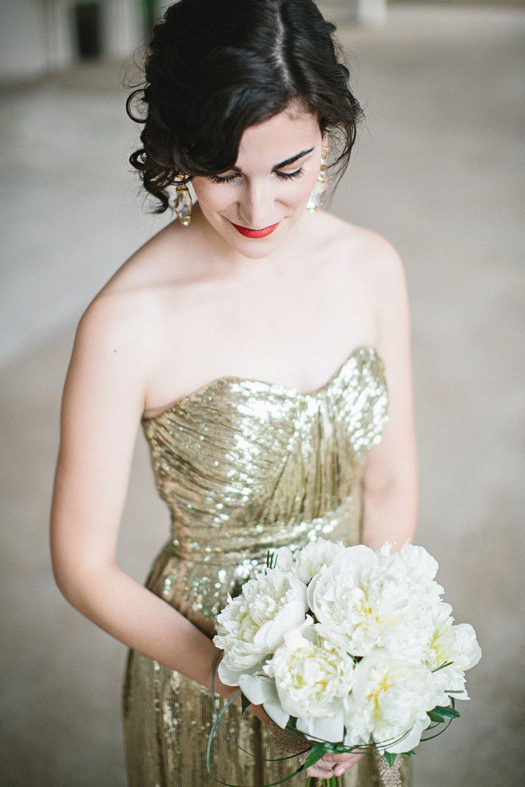 Gold sparkle wedding dress   best romance images on Pinterest  The bride Weddings and