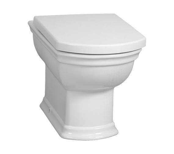 VitrA Serenada Back-To-Wall WC Pan With Toilet Seat   4164B003-0075