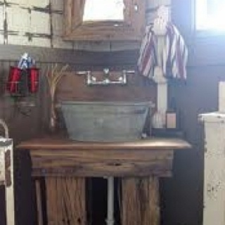 Galvanized wash tub sink house of awesome