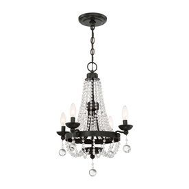 Shop Quoizel Livery 175 In 4 Light Western Bronze Crystal Hardwired Empire Chandelier At