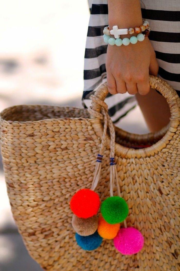 Panier sac sac banana moon chapeau de plage