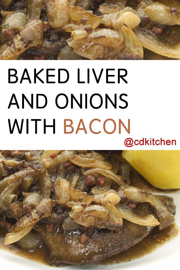 Recipe is made with black pepper, salt, water, flour, beef liver, bacon, onions, butter or margarine, dry red wine, parsley, bay leaf, thyme | http://CDKitchen.com