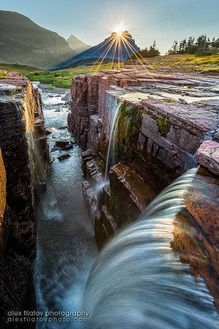 Triple Falls, Glacier National Park, Montana, USA