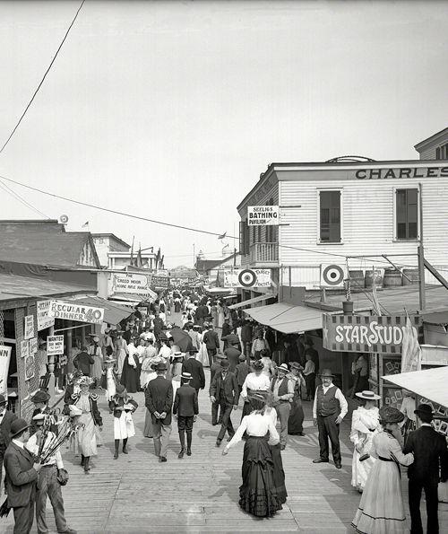 NYC. Rockaway, circa 1905. The Bowery looking east.
