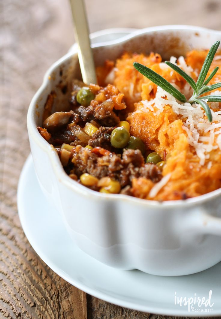 Sweet Potato Shepard's Pie | inspiredbycharm.com