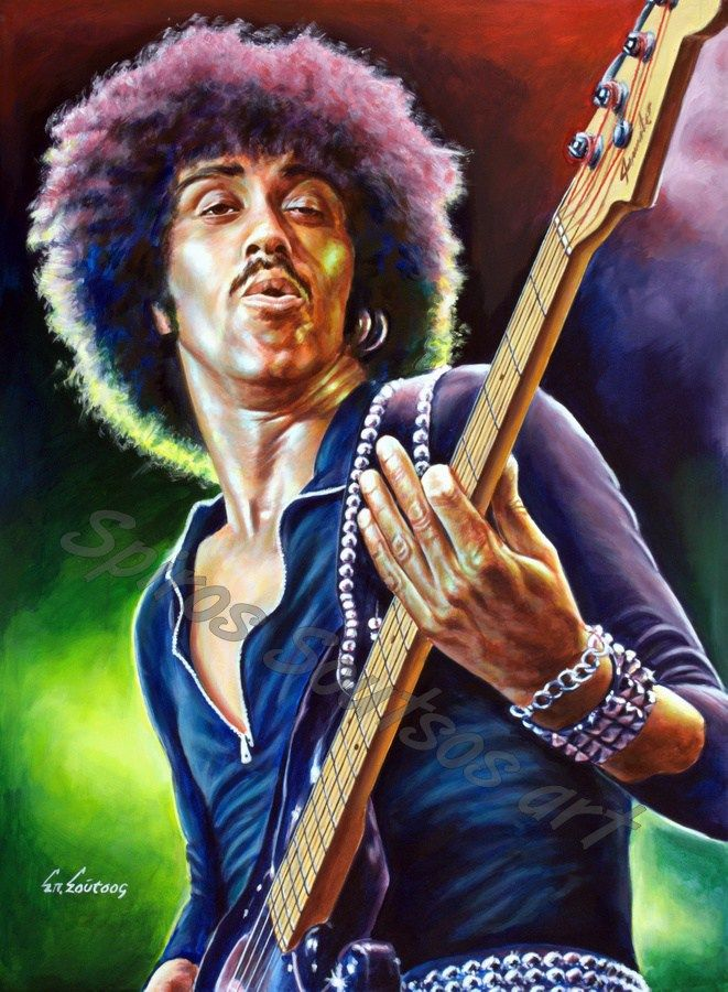 Phil Lynott painting portrait,Thin Lizzy painted poster, original artwork