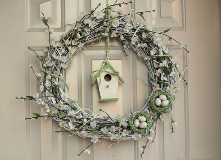 Весна стучится в дом: 20 очаровательных веночков для украшения интерьера - Ярмарка Мастеров - ручная работа, handmade