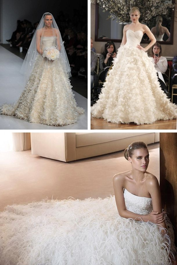 Romona Keveza via OMG I'm Getting Married (top); Pronovias 'Fidji' (bottom)