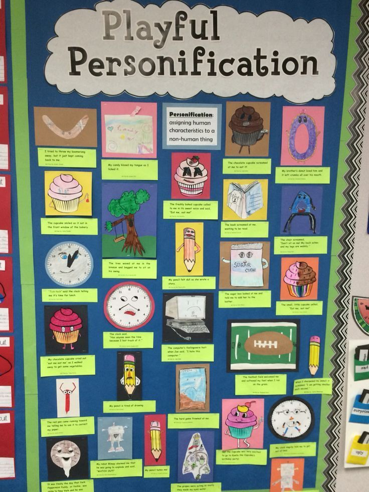 Fun with personification in my fourth grade classroom today! I read the children's book, The Little Red Pen, which is filled with examples of personification, and then the students wrote their own sentences bringing an object to life. They loved it!