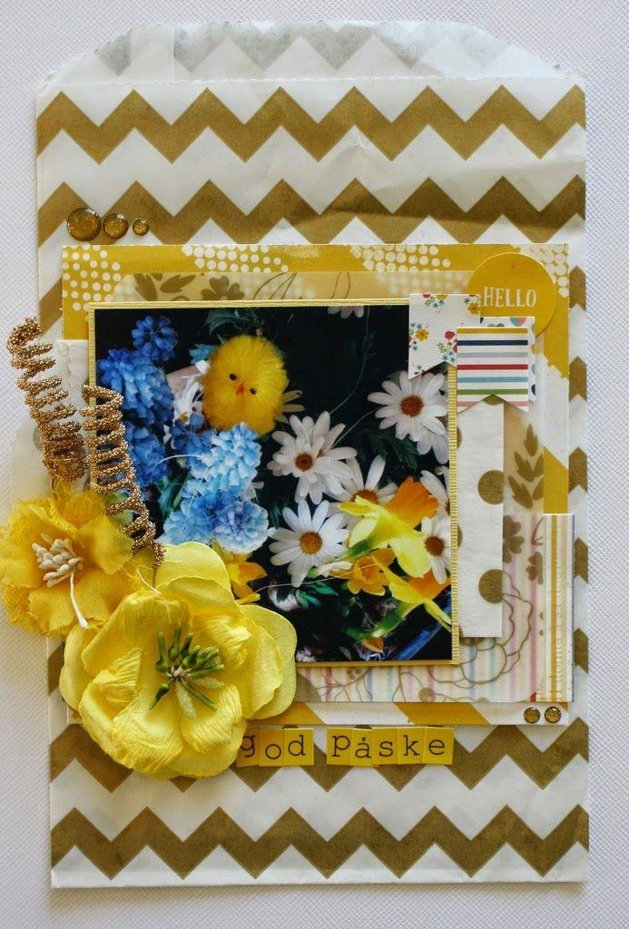Andrine og Marens Landhandleri - Blog - Easter paperbag card by Dt Stine.