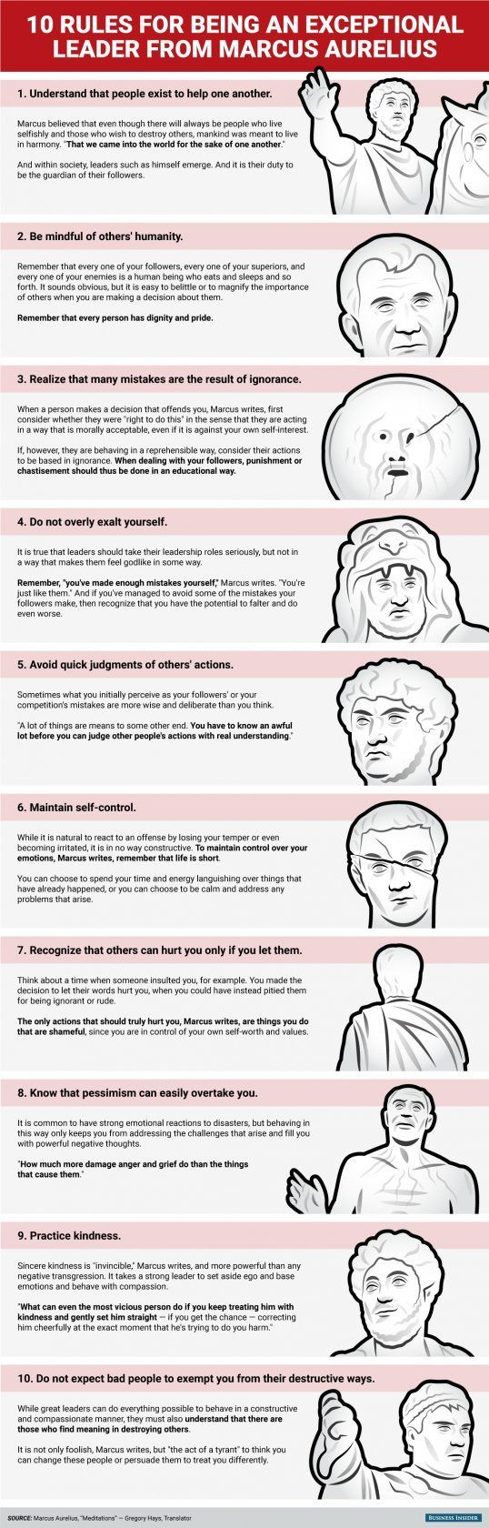 17 best ideas about leadership leadership 10 rules for being an exceptional leader from philosopher king marcus aurelius