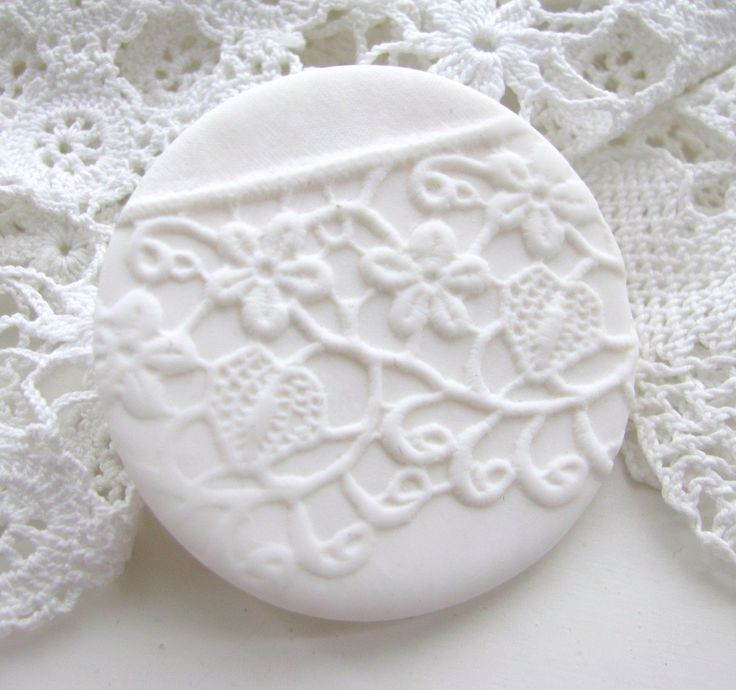 white wedding - WHITE NOISE series - delicate lace imprint brooch - white textured brooch. €20.00, via Etsy.